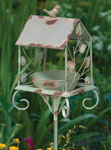 Rustic Birdhouse Feeder Stake