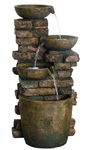 Rustic Bricks Pouring LED Fountain