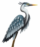 "40"" Blue Heron Garden Bird - Down"