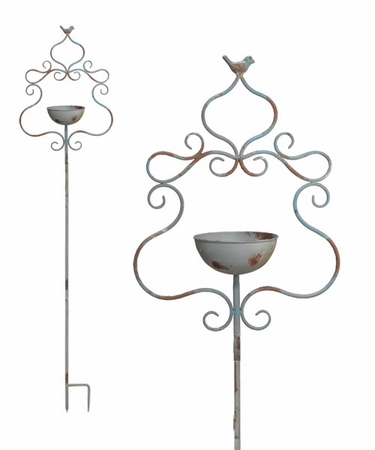 Rustic Swirl Bird Feeder Stake - Click to enlarge