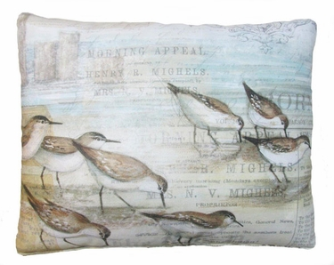 Sandpipers Outdoor Pillow - Click to enlarge