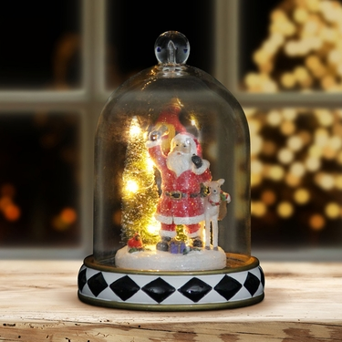 Santa Christmas Dome w/LED Timer - Click to enlarge