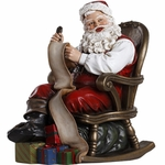 Santa Claus in Rocking Chair