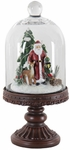 Santa Dome on Pedestal w/LED Timer