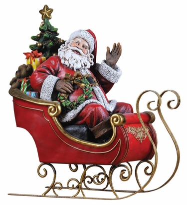 Santa on Sleigh - Click to enlarge