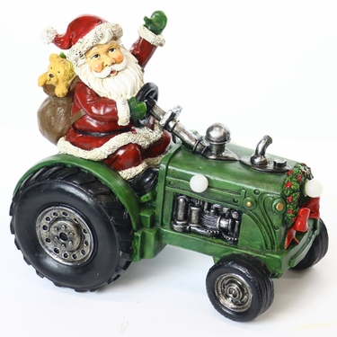 Santa on Tractor w/Color Changing LEDs - Click to enlarge