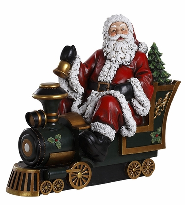 Santa Statue on Train - Click to enlarge