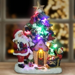 Santa w/LED Tree House - Automatic Timer