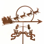 Santa with Sleigh Weathervane