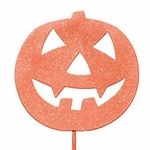 Scary Pumpkin Stake / Sign (Set of 4)