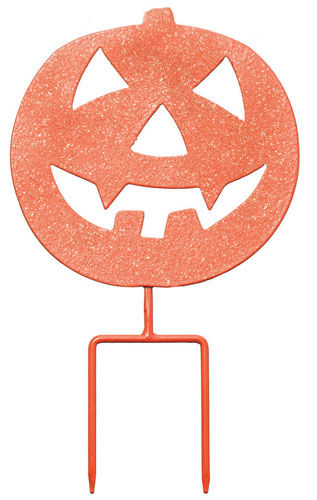 Scary Pumpkin Stake / Sign (Set of 4) - Click to enlarge