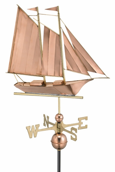 Schooner Boat Weathervane - Click to enlarge