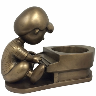 Schroeder Peanuts Planter - Antique Bronze - Click to enlarge