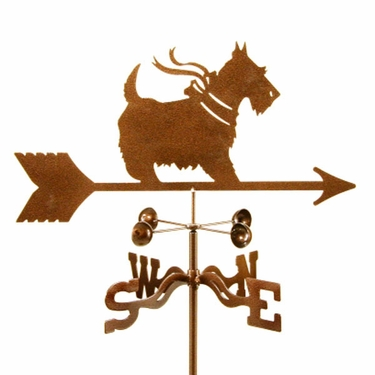 Scottie with Bow Weathervane - Click to enlarge
