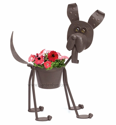 Well known Scout the Metal Dog Planter only $39.99 at Garden Fun WT98
