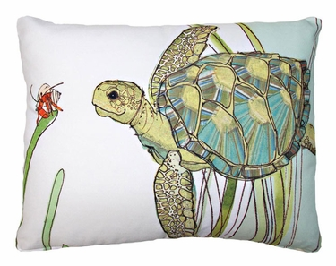 Sea Turtle Outdoor Pillow - Click to enlarge