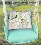 Seafoam Green Chickadee Birds Hammock Chair Swing Set