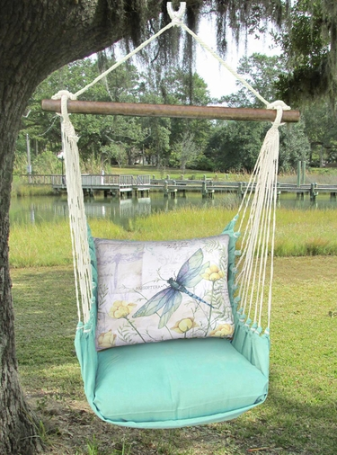 Seafoam Green Dragonfly Hammock Chair Swing Set - Click to enlarge