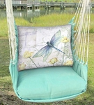 Seafoam Green Dragonfly Hammock Chair Swing Set