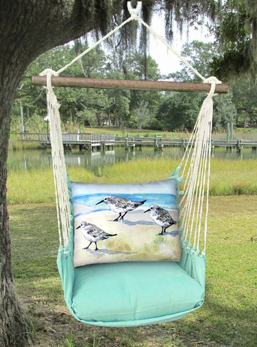 Seafoam Green Sandpipers Hammock Chair Swing Set - Click to enlarge