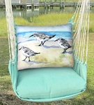 Seafoam Green Sandpipers Hammock Chair Swing Set