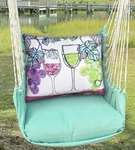 Seafoam Green Wine Glasses Hammock Chair Swing Set