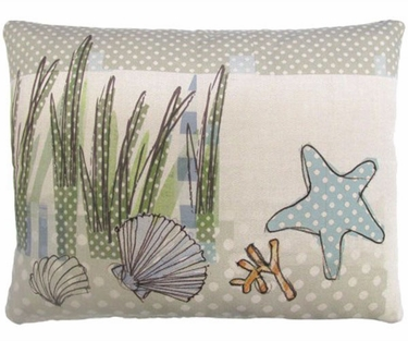 Seashells in Marsh Outdoor Pillow - Click to enlarge