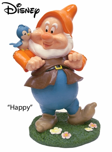 Seven Dwarfs Happy - Disney Garden Statue - Click to enlarge