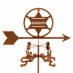 Sheriff Badge Weathervane