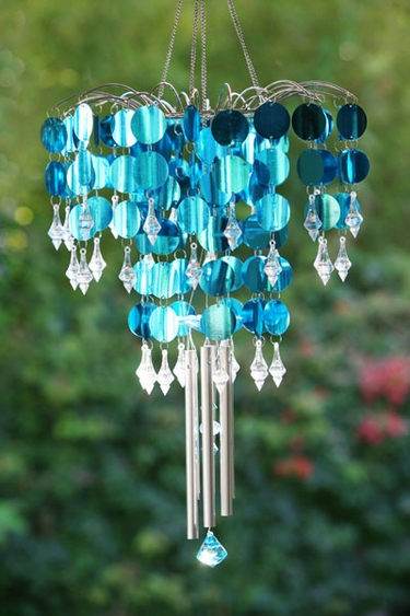 Shimmer Chandelier Wind Chime - Blue - Click to enlarge