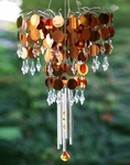 Shimmer Chandelier Wind Chime - Bronze