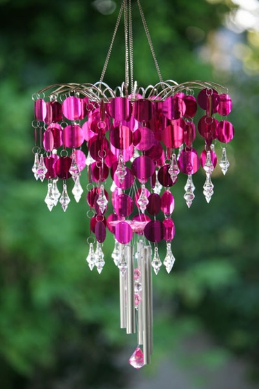Shimmer Chandelier Wind Chime - Purple - Click to enlarge