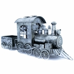 Silver Christmas Train w/Cart