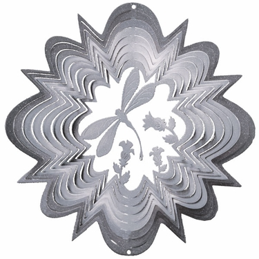 Silver Dragonfly Wind Spinner - Click to enlarge