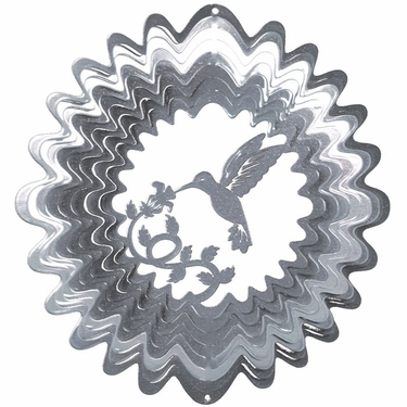 Silver Hummingbird Wind Spinner - Click to enlarge