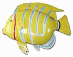 Silver Stripe Yellow Fish Decor