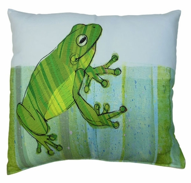 Sitting Frog Outdoor Pillow - Click to enlarge