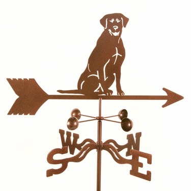 Sitting Lab Weathervane - Click to enlarge