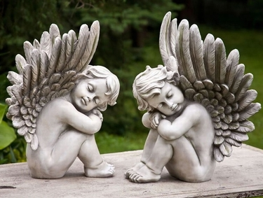 Sleeping Cherubs (Set of 2) - Click to enlarge