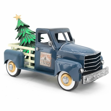 Small Blue Truck w/Christmas Tree - Click to enlarge