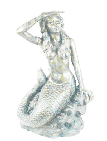 Small Classic Mermaid - Antique White - Click to enlarge