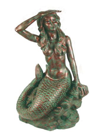 Small Classic Mermaid - Bronze Patina - Click to enlarge