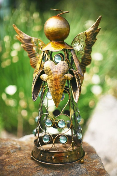 Small Filigree Angel Statue - Gold - Click to enlarge