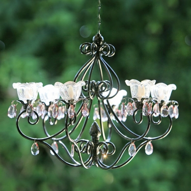 Small Hannah Series Chandelier - Black - Click to enlarge