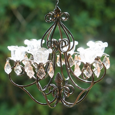 Small Hannah Series Chandelier - Bronze - Click to enlarge