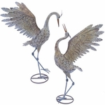 Small Iron Dancing Cranes (Set of 2)