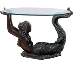 Small Mermaid Table - Greenish Bronze