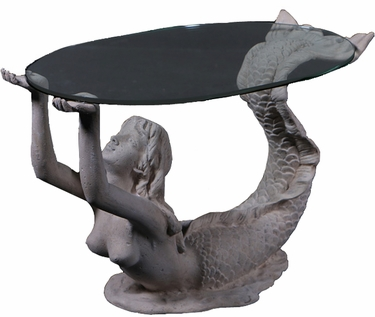 Small Mermaid Table - Roman Stone - Click to enlarge