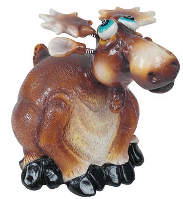 Small Moose Phatzo Statues (Set of 2) - Click to enlarge