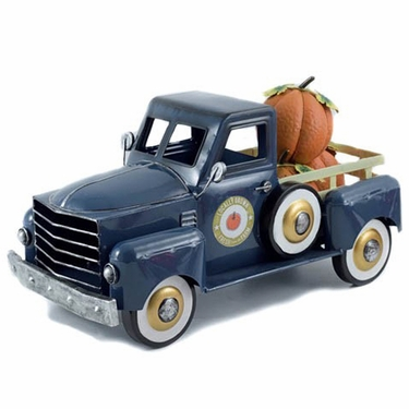 Small Pumpkin Harvest Truck - Blue - Click to enlarge
